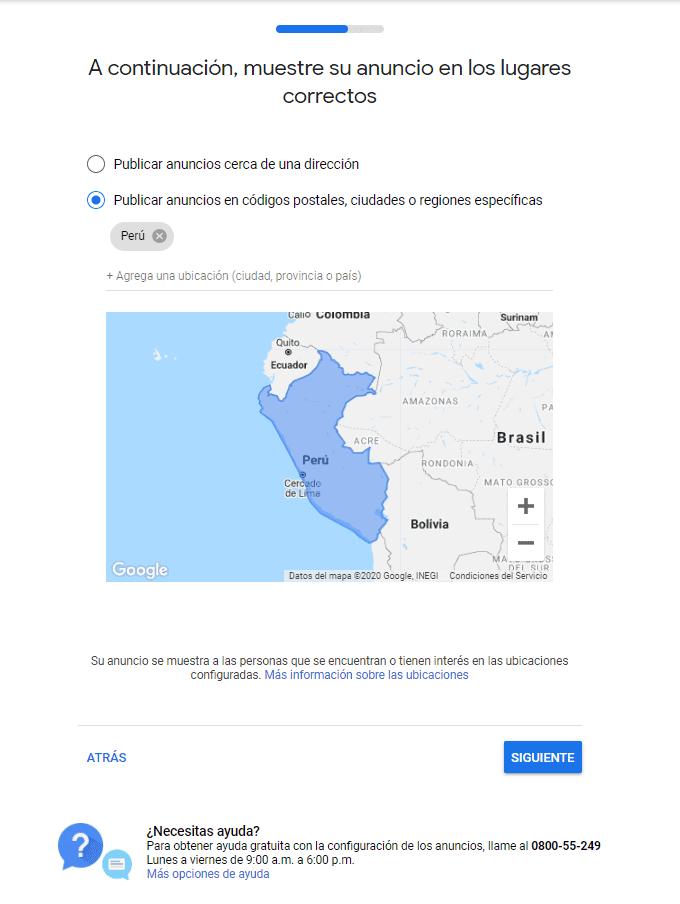 Google Ads Geolocalización