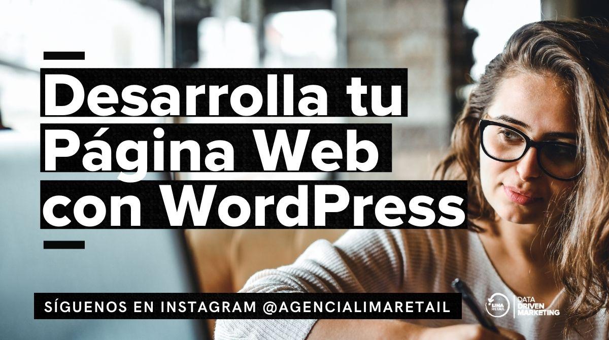 Desarrolla tu Página Web con WordPress
