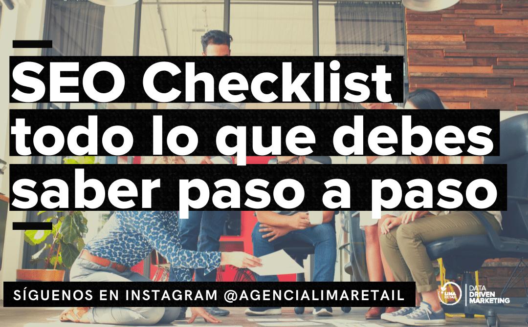 SEO Checklist: Lo que debes hacer paso a paso