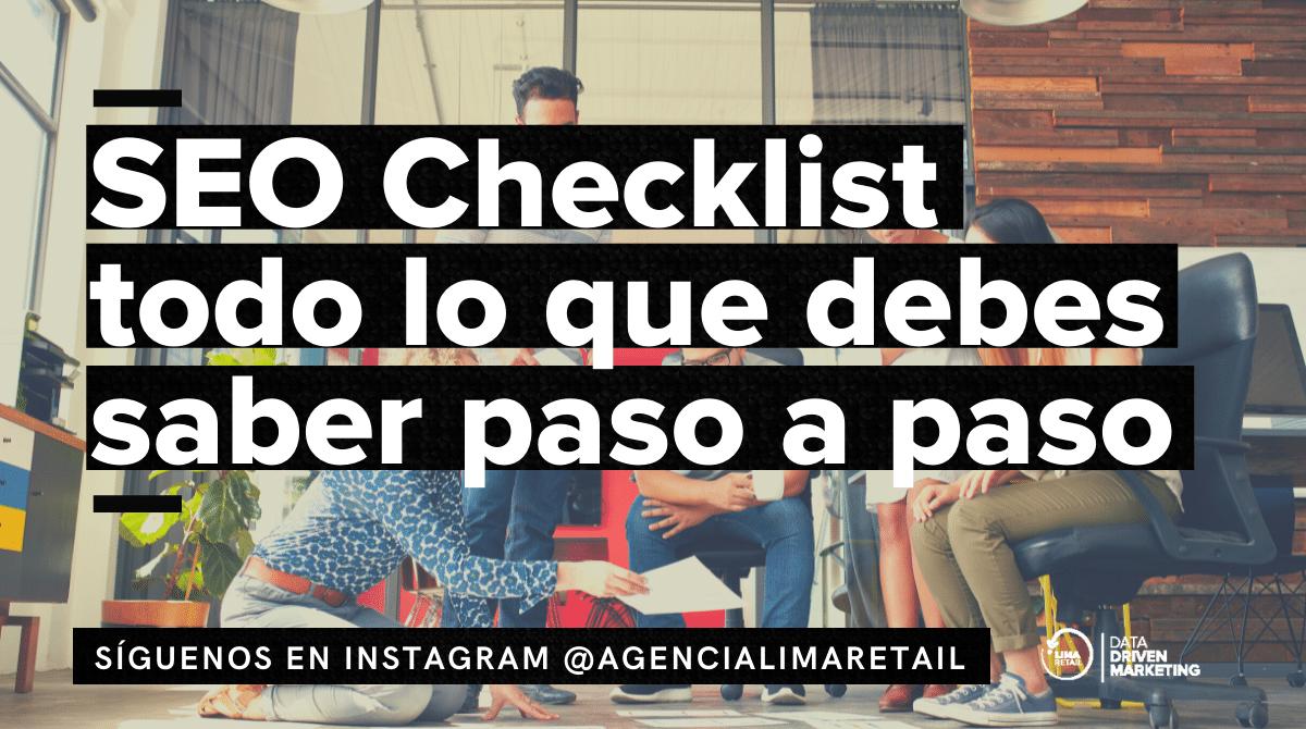 SEO Checklist todo lo que debes saber paso a paso