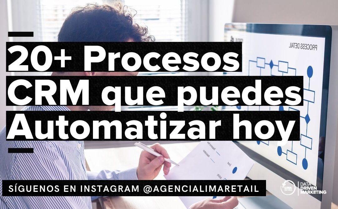 20+ Procesos CRM que puedes Automatizar hoy